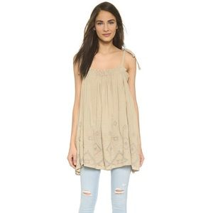 Free People Large Summer Sun Embroidered Tunic Top